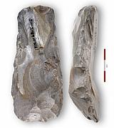 Ravenswoud (Fryslân), vervalste 'neolithische' bijl, collectie Tjerk Vermaning