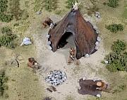 Reconstructie kampement rendierjagers Ahrensburgcultuur