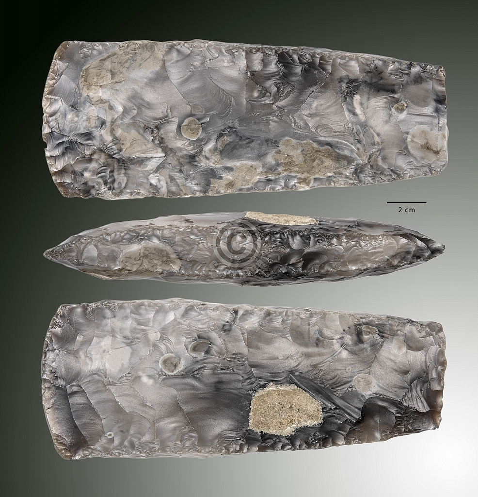 Bijl Trechterbekercultuur, vindplaats Elspeet-Droge Beek (Gld.) - Neolithicum